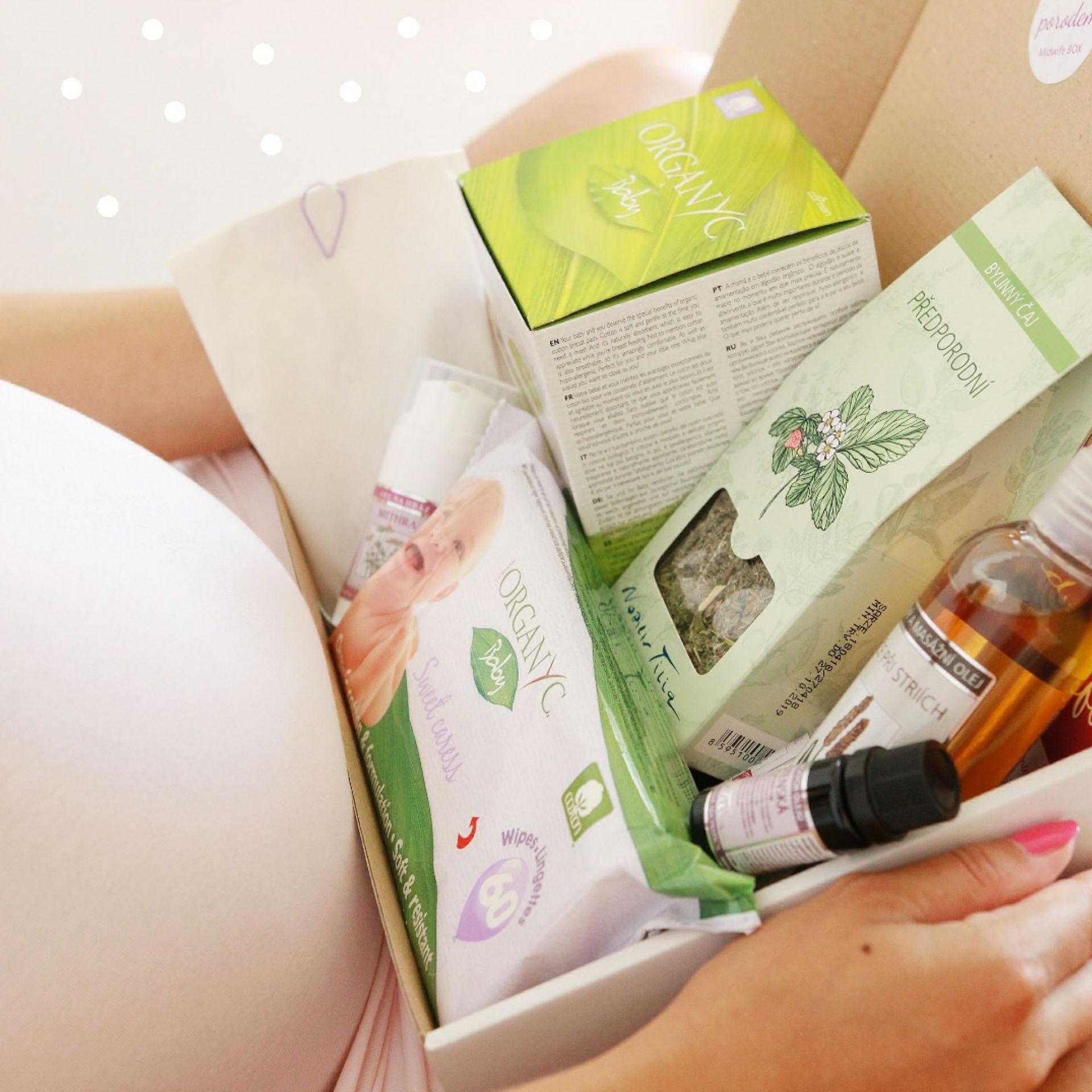 Co dát těhotné - Midwife box dárek